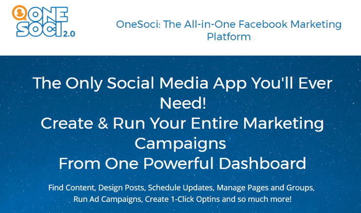 OneSoci: Automate Your Facebook Page Management and Updates